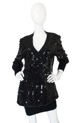 1980s Dominic Rompollo Sequin Dress