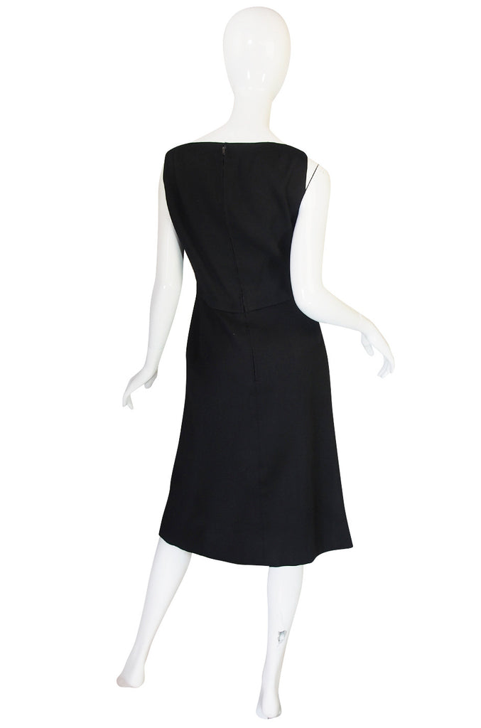 1960s Nina Ricci Black Silk Shift Dress & Jacket