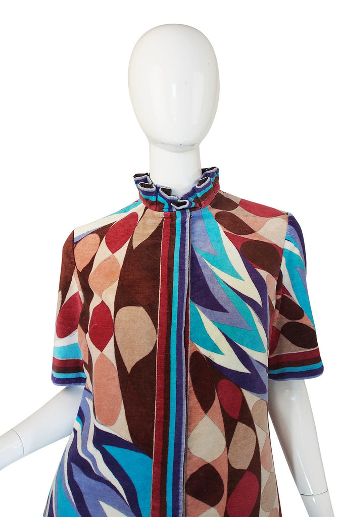 1960s Pucci Terry Cloth Mini Dress or Cover Up