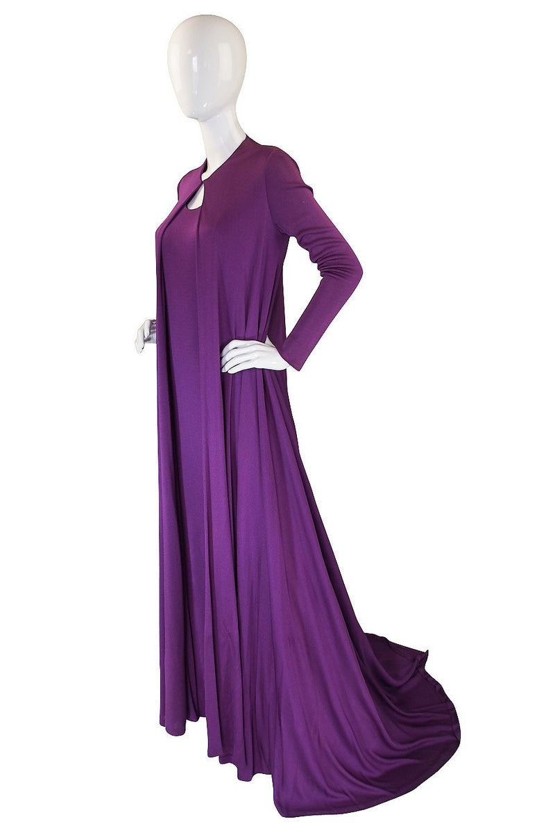 1971 Couture Runway Halston Jersey Dress & Coat