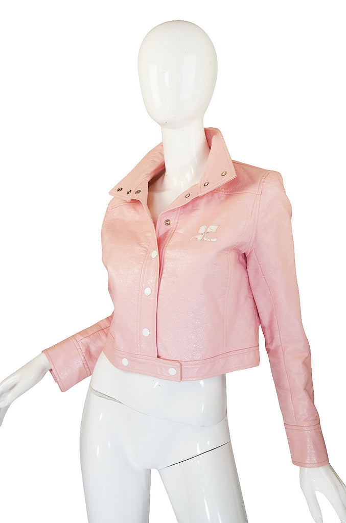 1980s Iconic Courrege Pink Crop Jacket