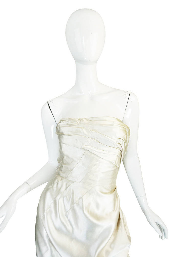 c1959 Maggy Rouf Haute Couture Champagne Silk Gown