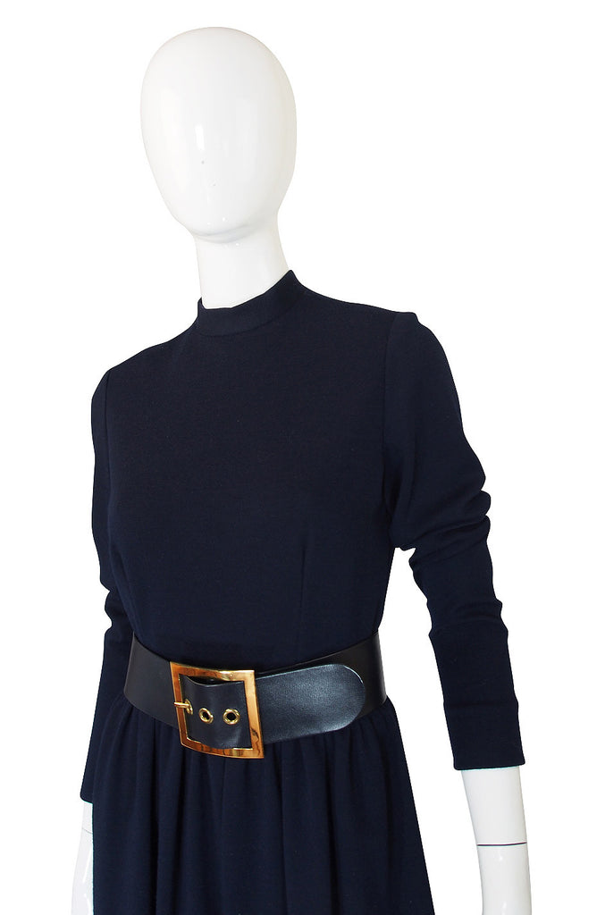 1960s Classic Norman Norell Blue Dress