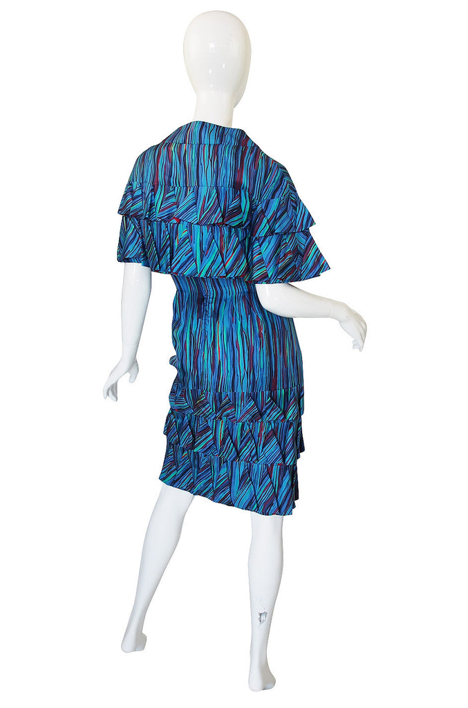 1950s Cornelia Couturier Silk Cape & Dress