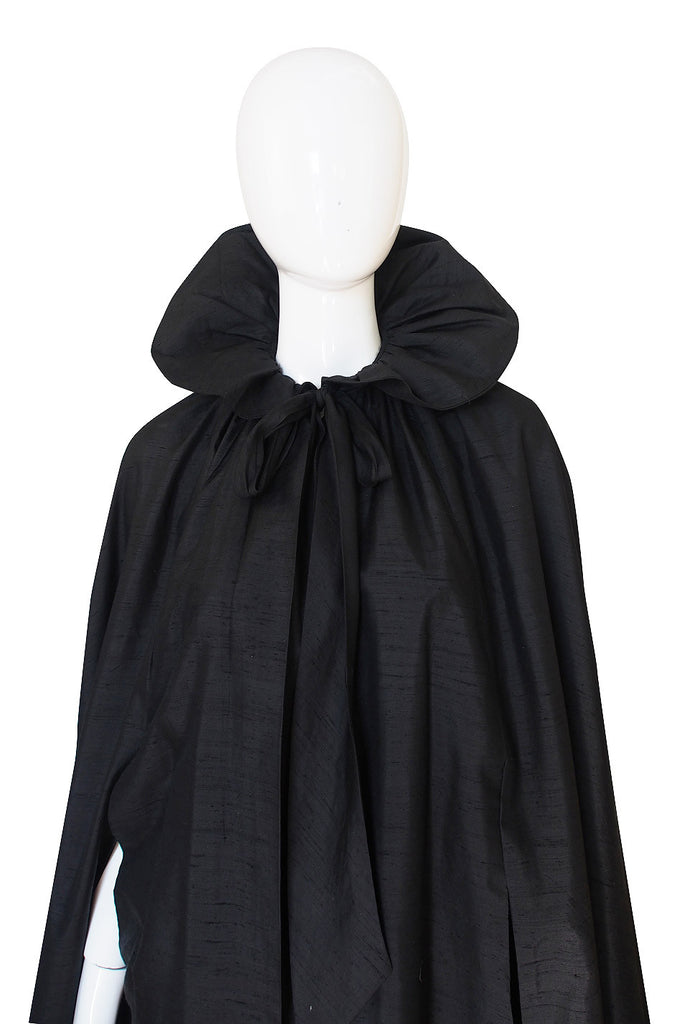 1970s Possible YSL Silk Taffeta Evening Cape