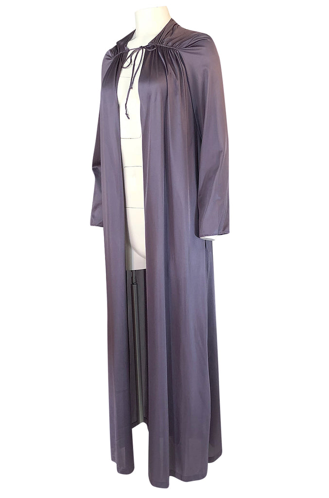 1970s John Kloss for Circa Purple Nylon Robe or Evening Coat