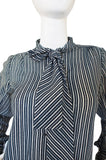 1970s Emanuel Ungaro Striped Top