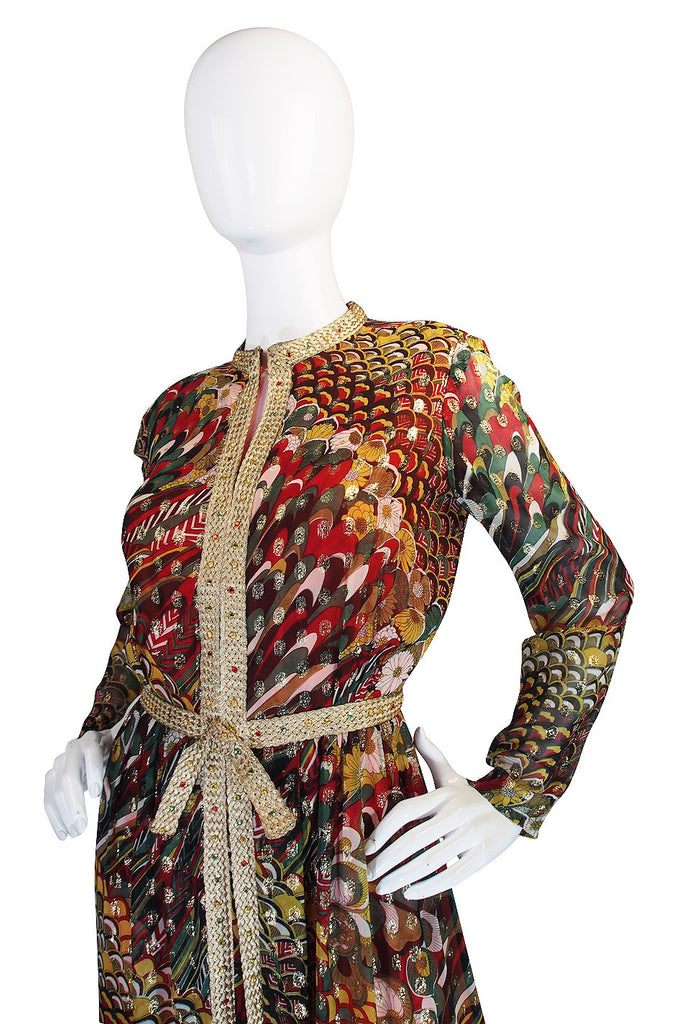 1960s Gold & Brocade Oscar de la Renta Dress
