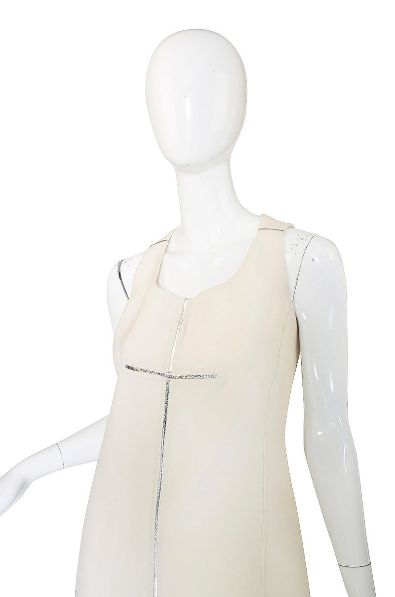 Recent Chado Ralph Rucci Silver & White Dress