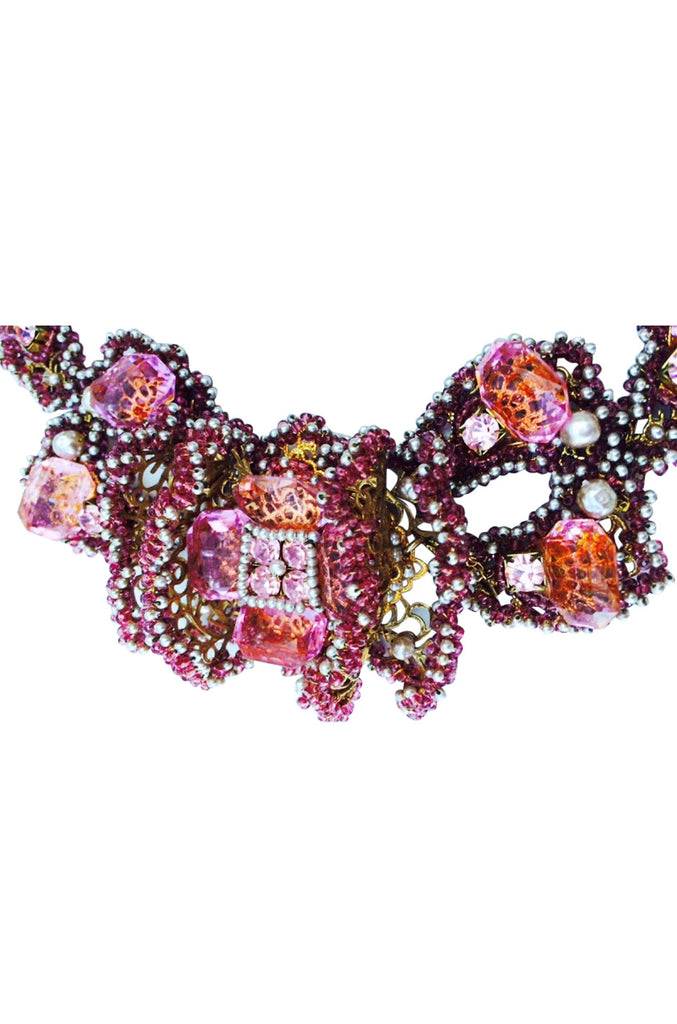 1994 William de Lillo Couture Crystal Collar