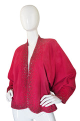 c1982 Hot Pink Suede Studded Halston Jacket