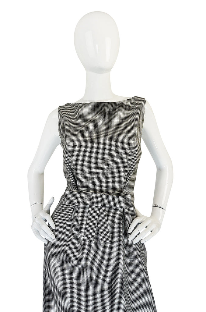 1990s John Galliano for Christian Dior Fitted Check Dress