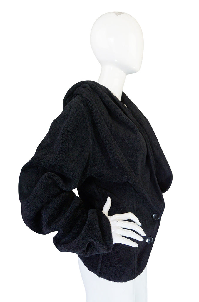 Fall 1991 Alaia Oversized Chenille Sweater Jacket
