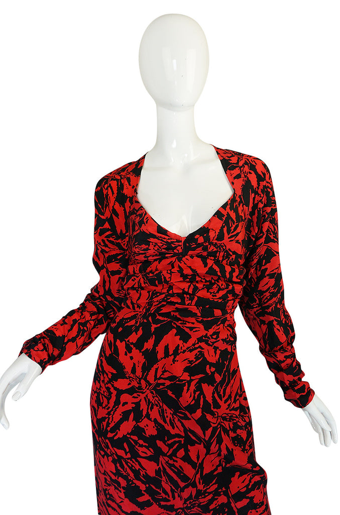 "1980s Nina Ricci Demi-Couture ""Haute Boutique"" Silk Dress"