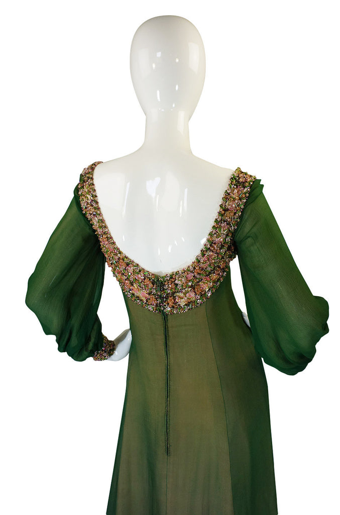 1960s Pierre Balmain Haute Couture Beaded Silk Dress