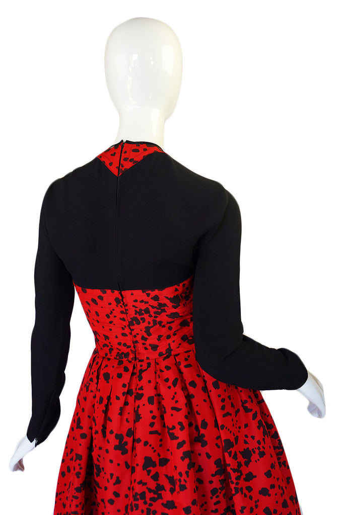 1980s Red Quilted Geoffrey Beene Dress