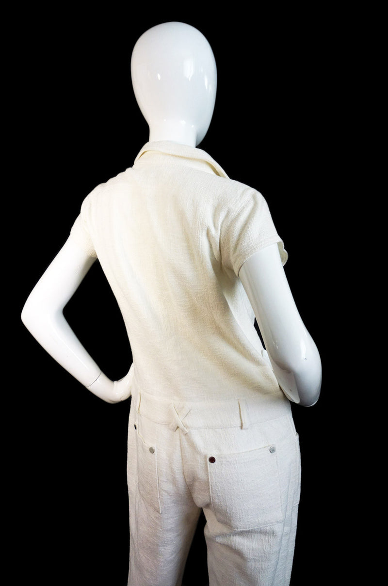 Amazing Chanel 07c White Jumpsuit