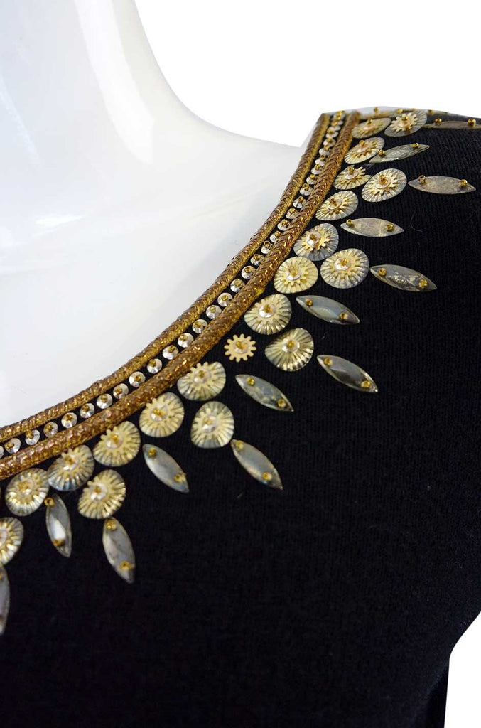 1950s Lanvin Attributed Beaded Top