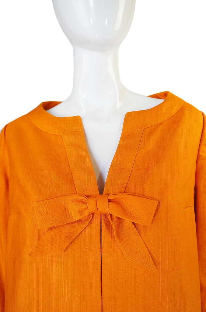 1960s Rare Maggy Reeves Tangerine Coat