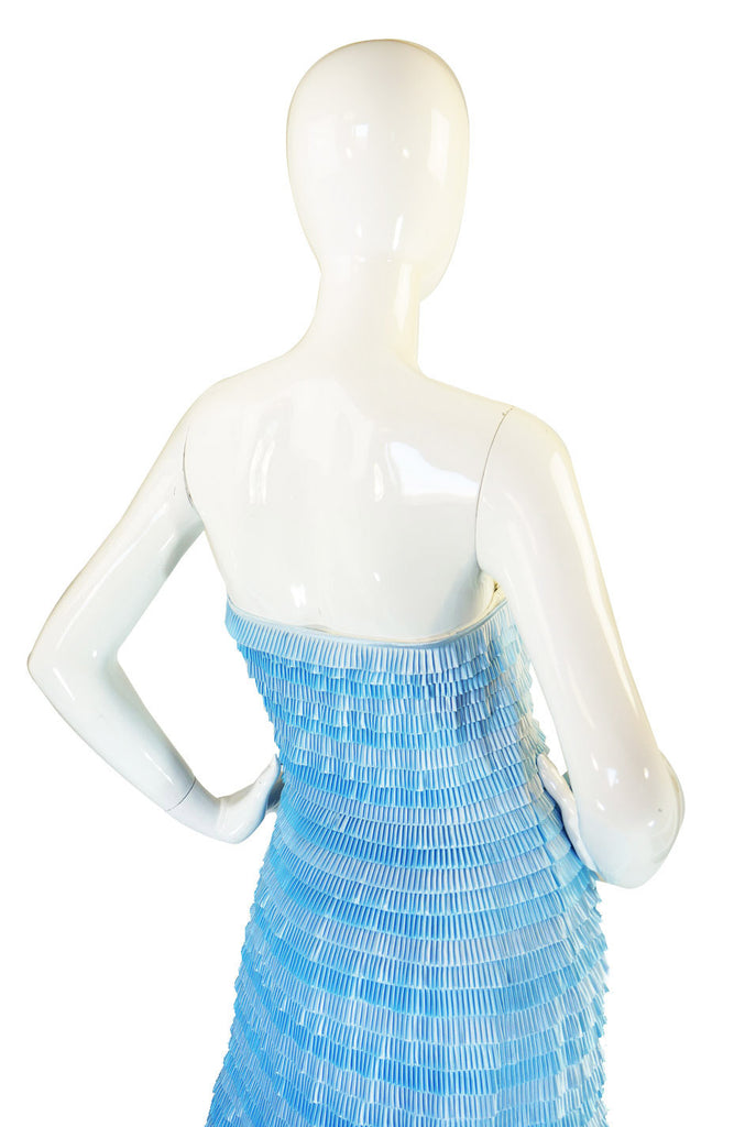 1980s Ice Blue Givenchy Couture Dress