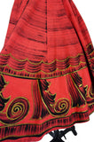 1950s Red & Gold Painted Mexican Skirt