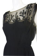 1950s Sophie of Saks Silk Bow Dress