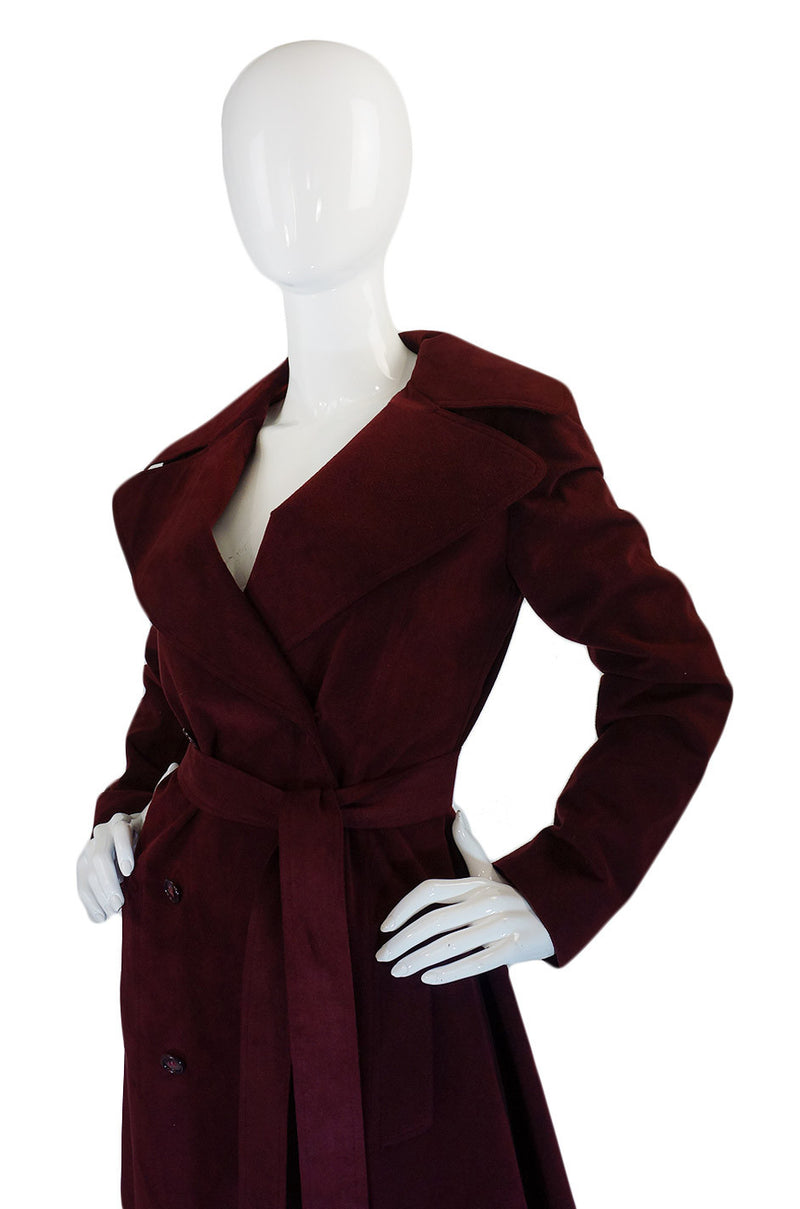 1972 Halston Ultra Suede Trench Coat