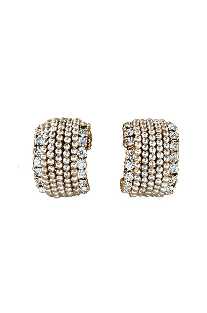 Crystal & Pearl Chanel 1980s Earrings