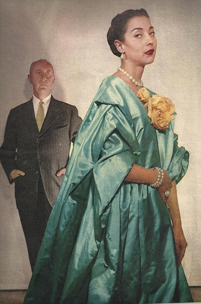 1954 Christian Dior Couture Silk Coat