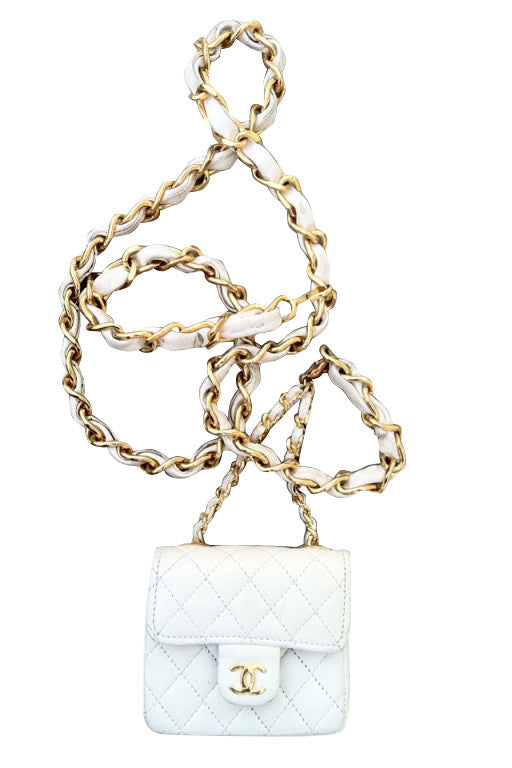 CHANEL Quilted Mini Flap Belt 1980s