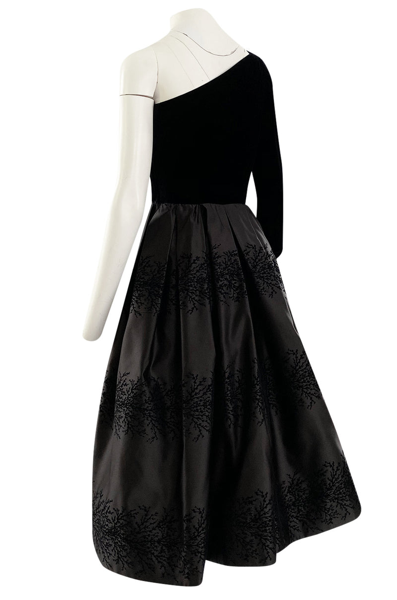 Documented Fall 1986 Valentino Haute Couture Very Full Skirted One Shoulder Dress
