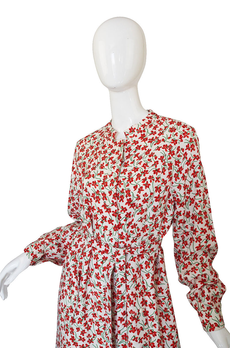 1960s Andre Laug Floral Dress or Coat