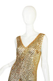 1970s Paco Rabanne Chain Mail Maxi Dress