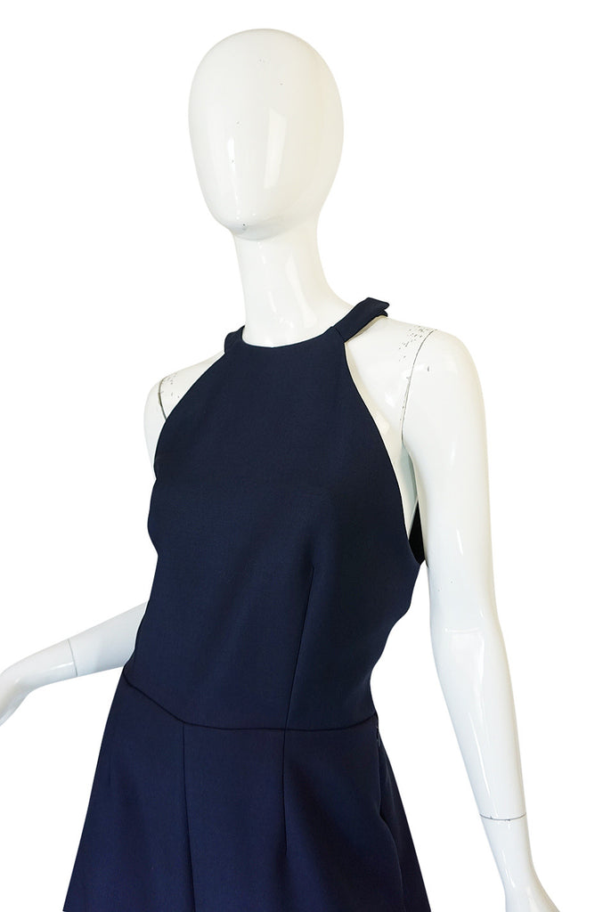 Fall 2014 Navy Rosie Assoulin Cut Out Wide Leg Jumpsuit