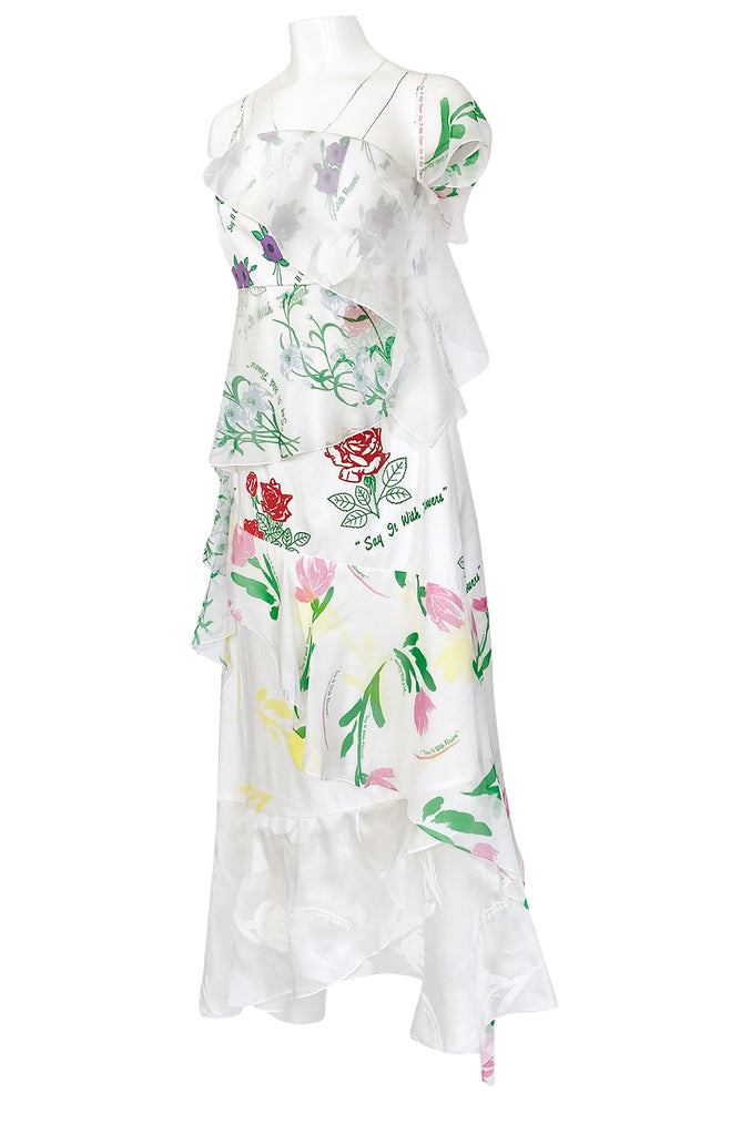 "Resort 2018 Rosie Assoulin ""Say It With Flowers"" Printed Floral Dress"
