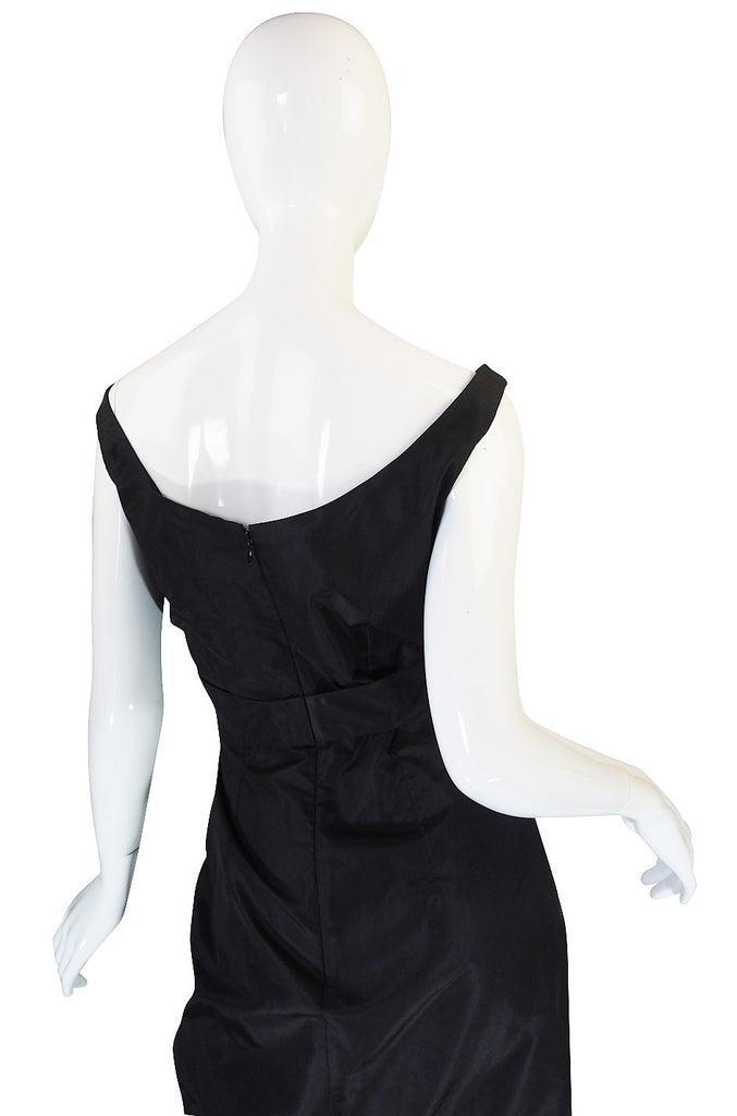 c2009 Black Silk Alexander McQueen Plunge Dress