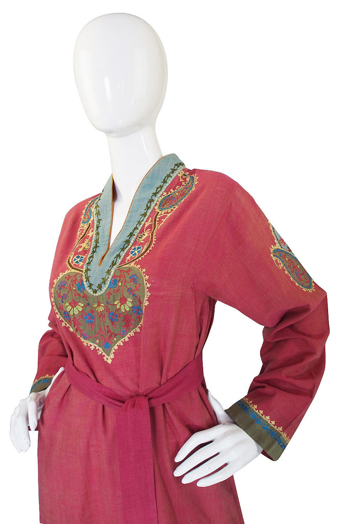 1970s Treacy Lowe Embroidered Caftan