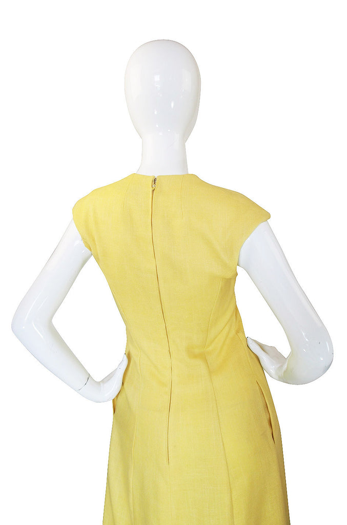 1960s Sculpted Mollie Parnis Maxi Dress