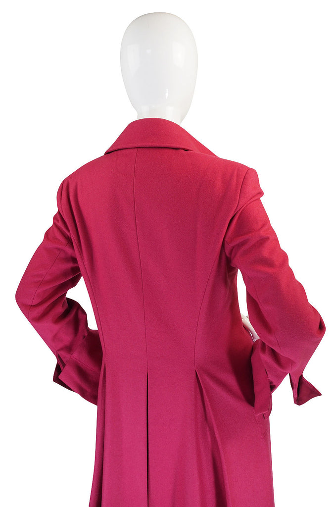 1990s Clements Ribeiro Raspberry Great Coat