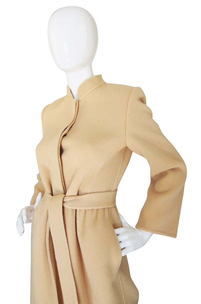 1970s Andre Laug Camel Wool Coat