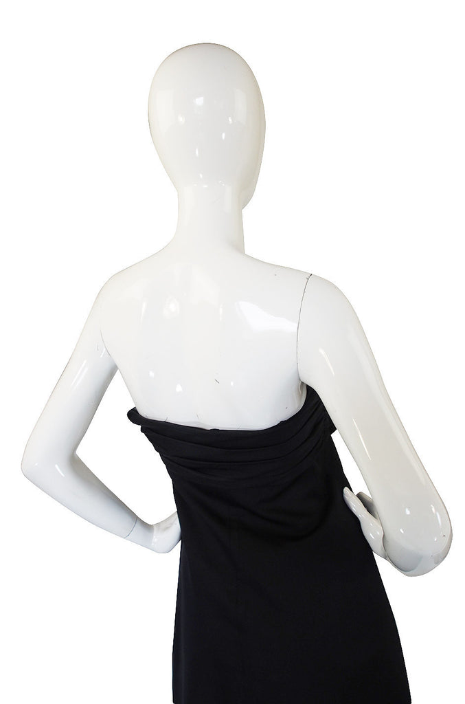 Recent Giambattista Valli Black Strapless Front Bow Cocktail Dress