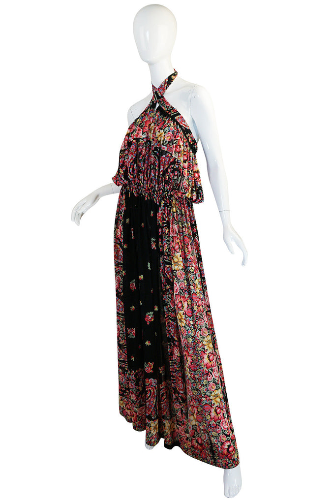 1960s Rose Marie Reid Jersey Multi Tie Cover Up or Dress