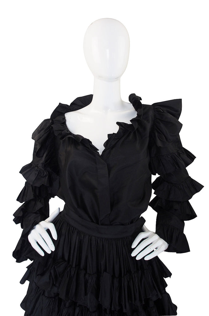 1983/4 Important Ruffled Yves Saint Laurent Set