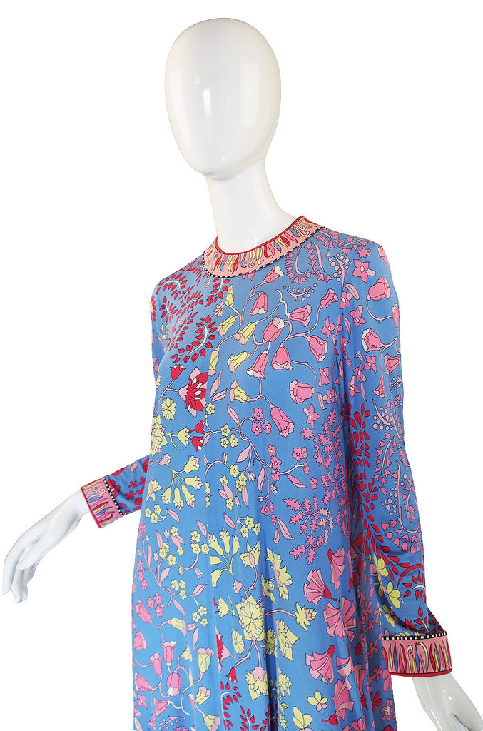 1970s Silk Jersey Bessi Caftan Dress