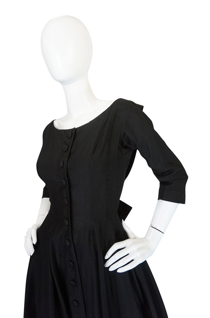 1950s Extraordinary Gigi Young Silk Button Front Dress