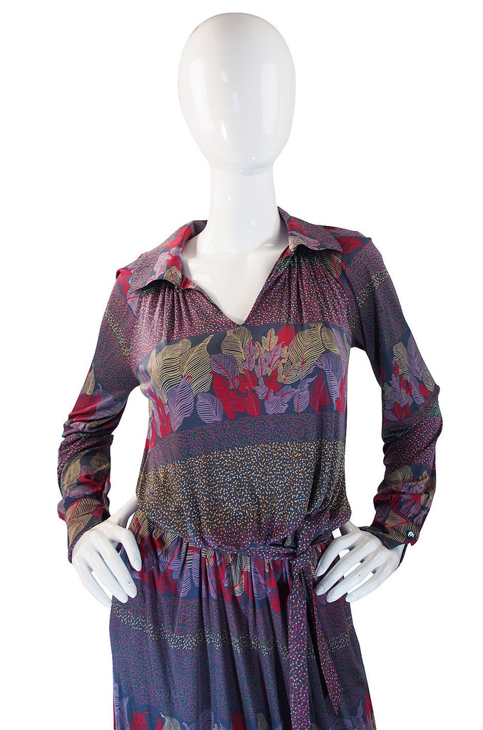 1970s Liquid Jersey Missoni Maxi Dress