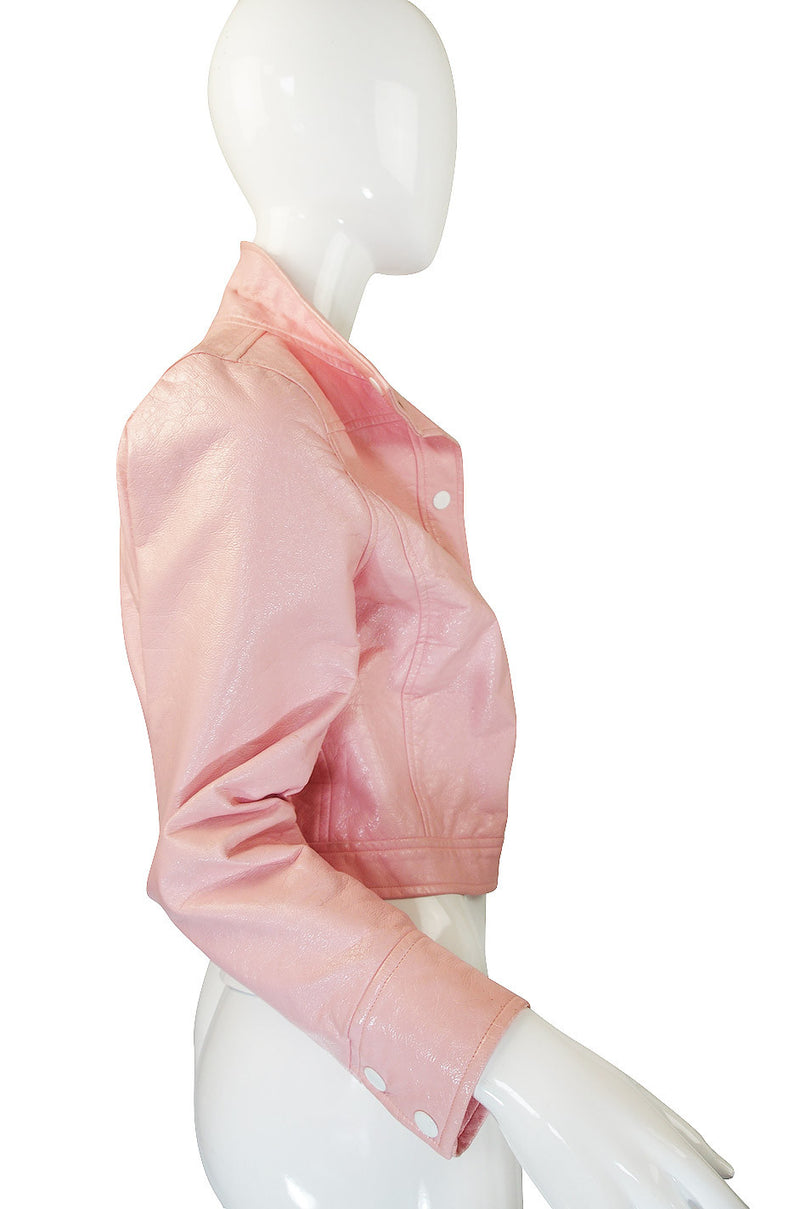 1980s Iconic Courreges Pink Crop Jacket