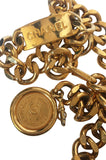 1990s Chanel Gold Tone Logo ID Belt or Necklace