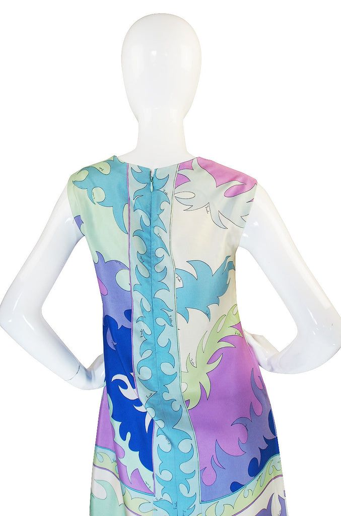 1960s Pretty Pastel Scarf Weight Pucci Shift Dress