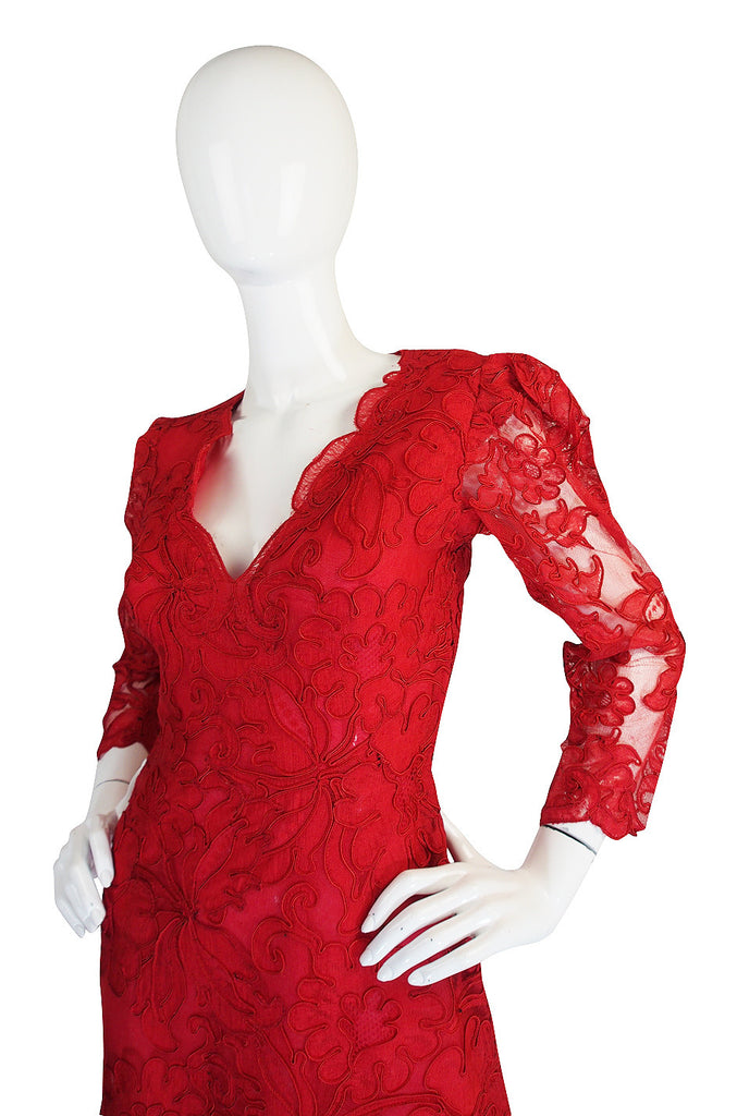 1983 Haute Couture Yves Saint Laurent Lace Dress